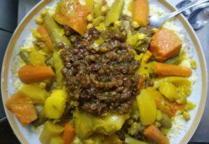 Image d'un couscous aux 7 légumes